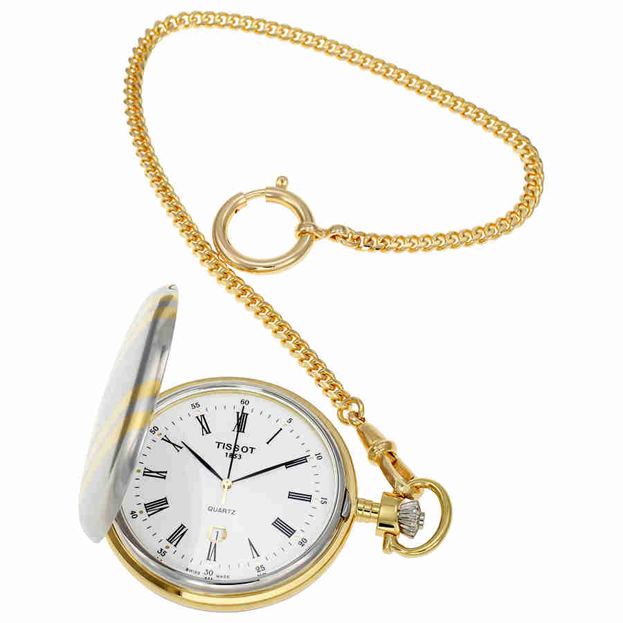 Tissot Savonnette Two Tone Pocket Watch T83.8.553.13