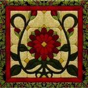 """Christmas Flower Quilt Magic Kit-12""""x12"""""""