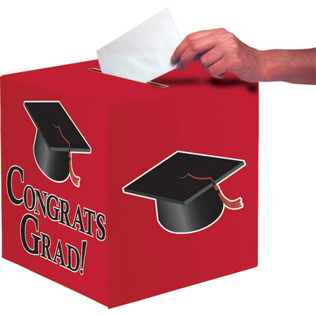 Red Congrats Grad Card Box