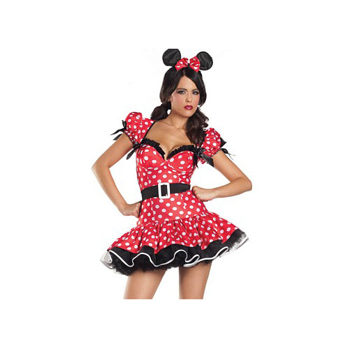 Be Wicked Flirty Mouse Costume BW1082 Red/Black