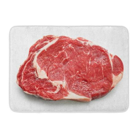 LADDKE Red Meat Fresh Raw Beef Steak Top View White Entrecote Sirloin Cow Doormat Floor Rug Bath Mat 23.6x15.7 inch 12 Top Sirloin Steaks