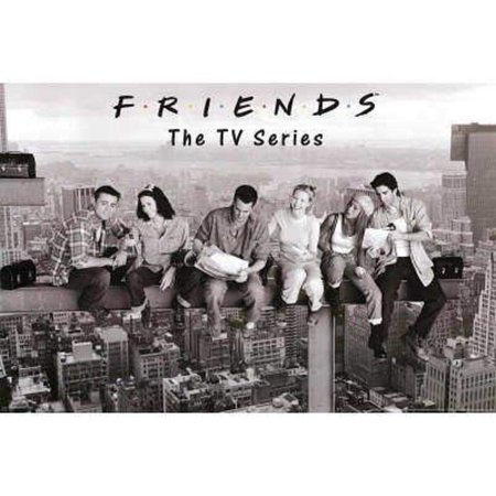 (24x36) Friends Lunch on Skyscraper over New York TV Poster Print, decorate your walls with this brand new poster By Poster