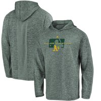 Oakland Athletics Majestic Authentic Collection Ultra-Light Raglan Pullover Hoodie - Green