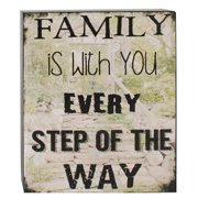 Blossom Bucket Family is with You Box Sign by Barbara Lloyd Textual Art