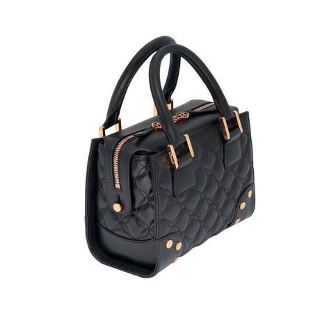 c1923beea440 Quilted Black Leather Handbag - Handbag Photos Eleventyone.Org