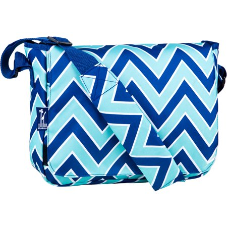 Zigzag Lucite 13 Inch x 10 Inch Messenger Bag