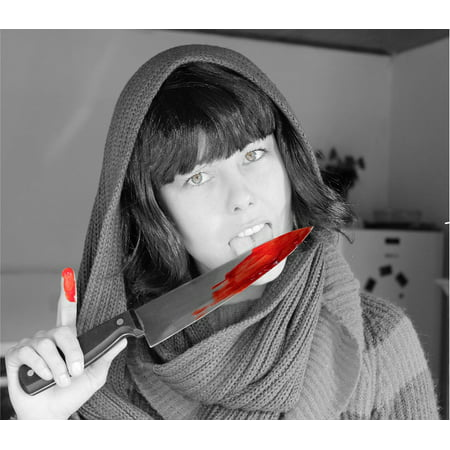 LAMINATED POSTER Gore Knife Blood Murder Halloween Poster Print 24 x - Halloween Cake Knife Blood