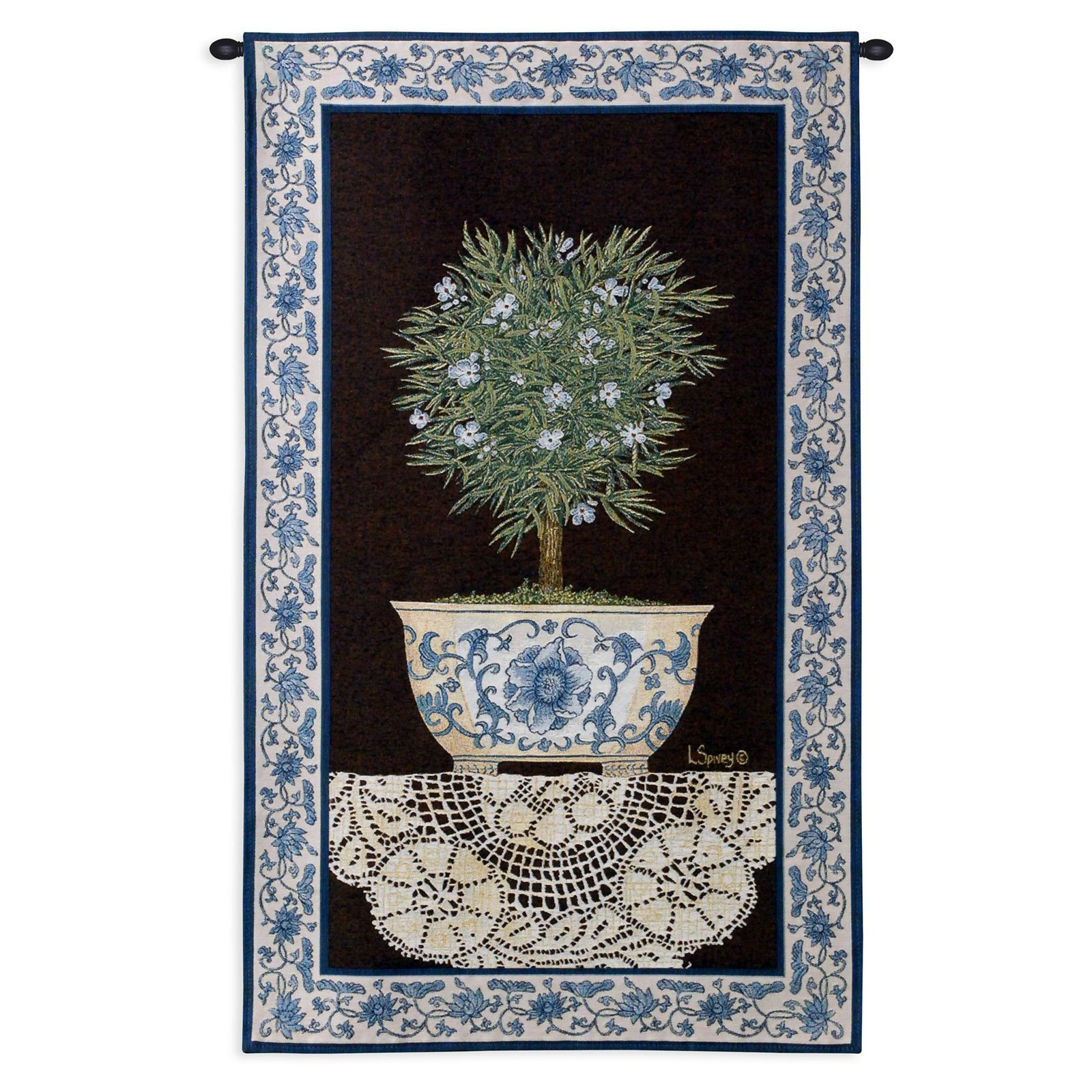 Click here to buy Fine Art Tapestries Ivy Topiary II Wall Tapestry by Supplier Generic.