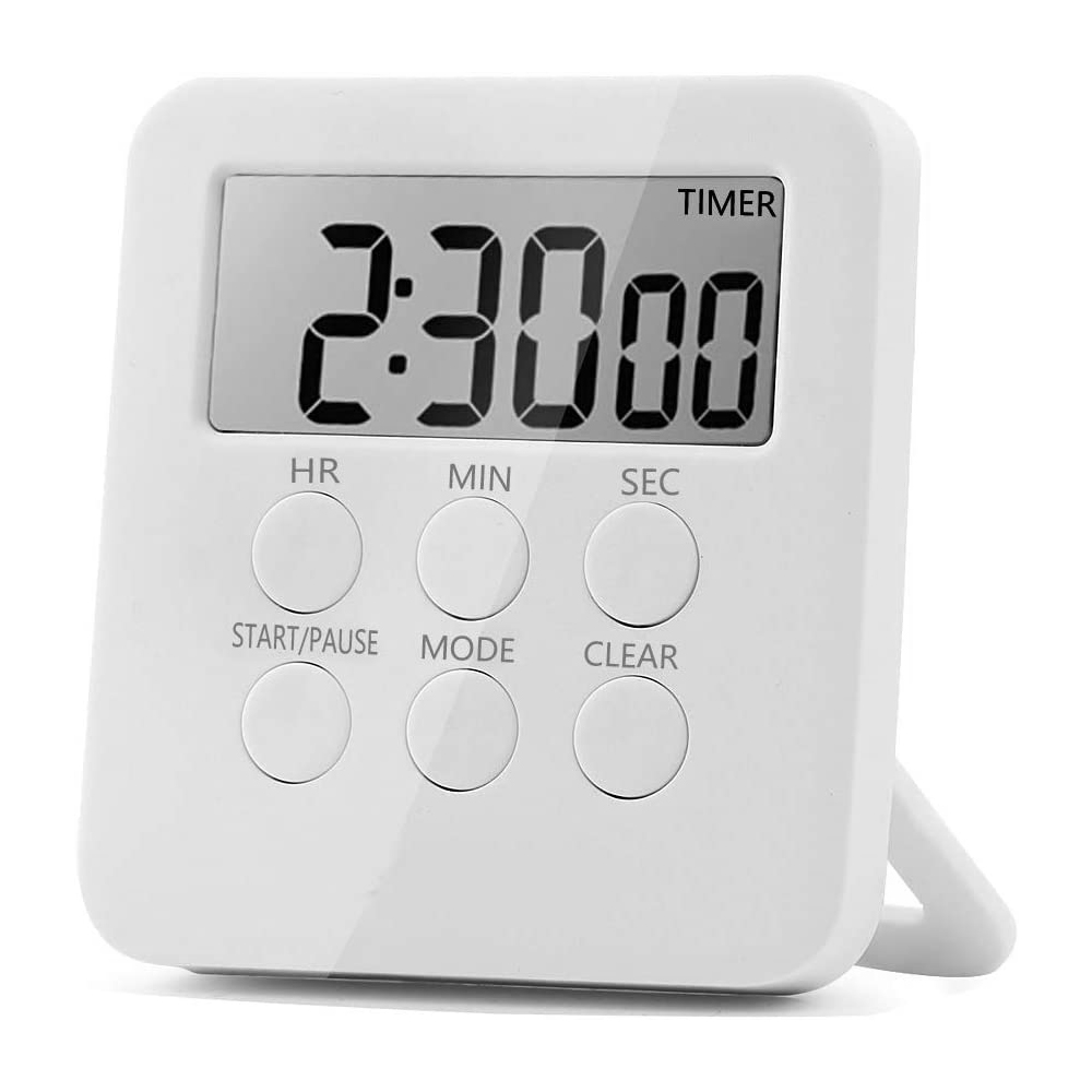 Metal Magnetic Cooking Timer Refrigerator Stickers Digital Kitchen Count Alarm
