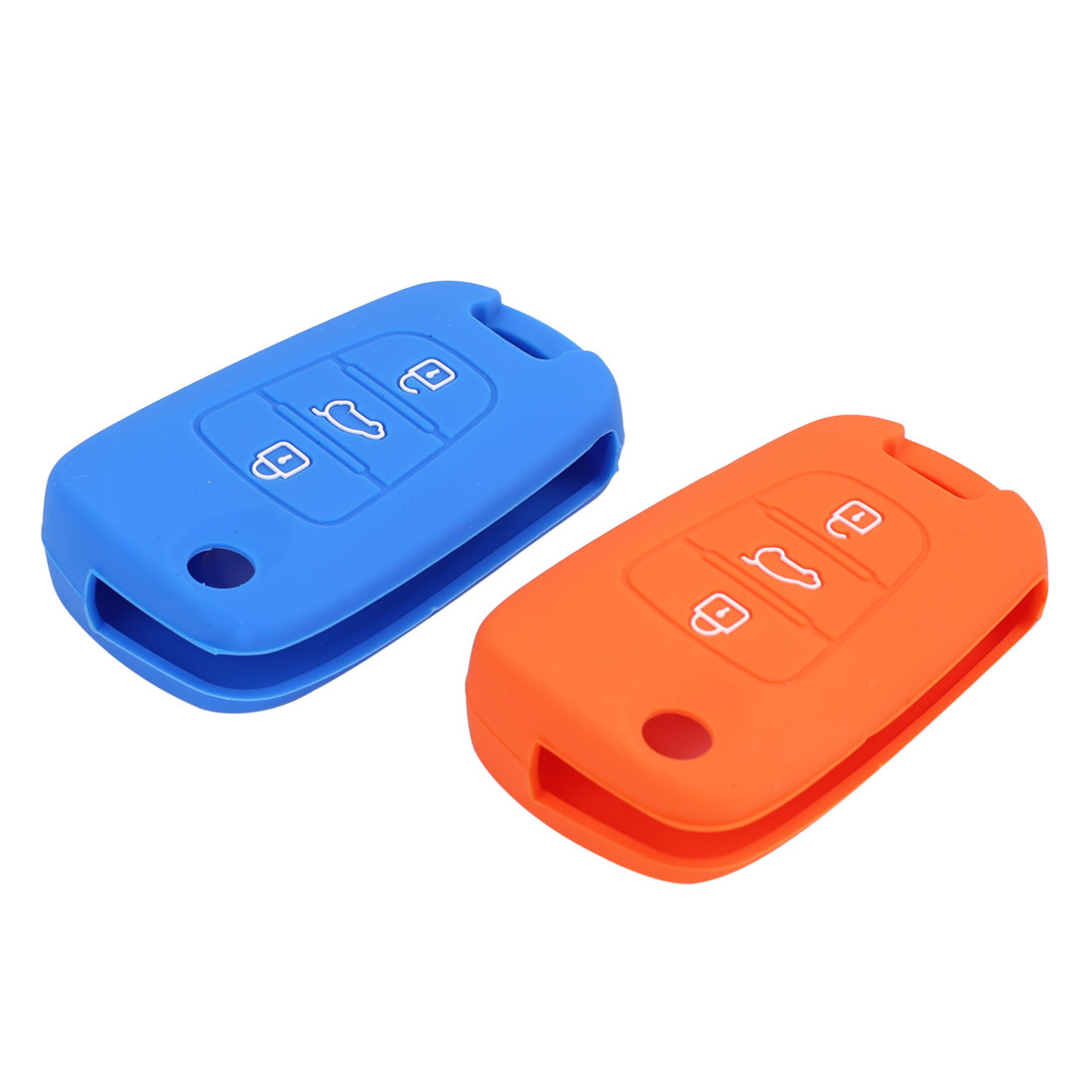 2PCS Orange Blue 3 Button Car Remote Key Case Holder Shell Cover for Hyundai I30 - image 1 of 3