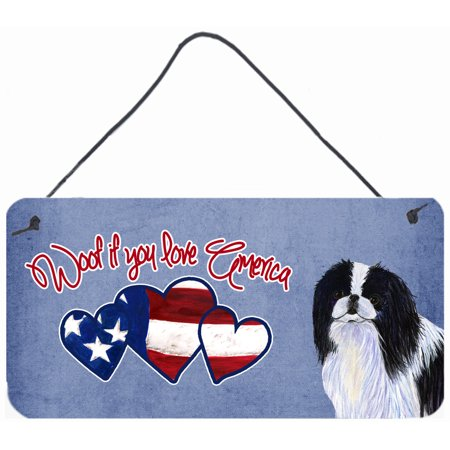 Woof if you love America Japanese Chin Wall or Door Hanging Prints SS4979DS612