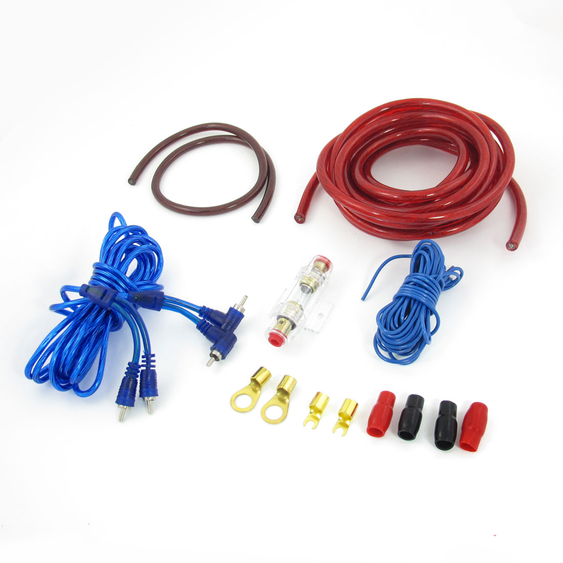 Car Auto Cables Amplifier Rca Speaker Wiring Cable Ground Wire Kit Set Amp