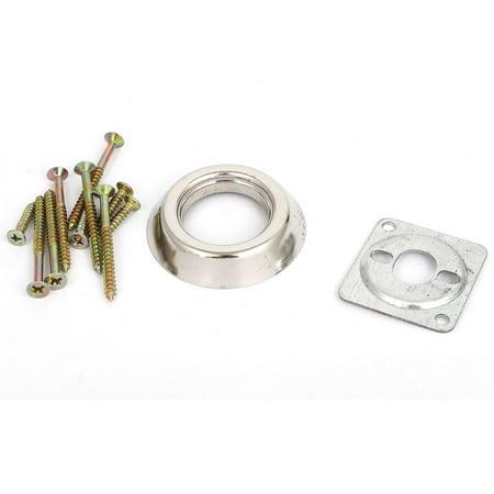 Home Room Metal Deadbolt Rim Night Latch Door Lock Set Silver Tone w 5 Keys - image 3 of 4