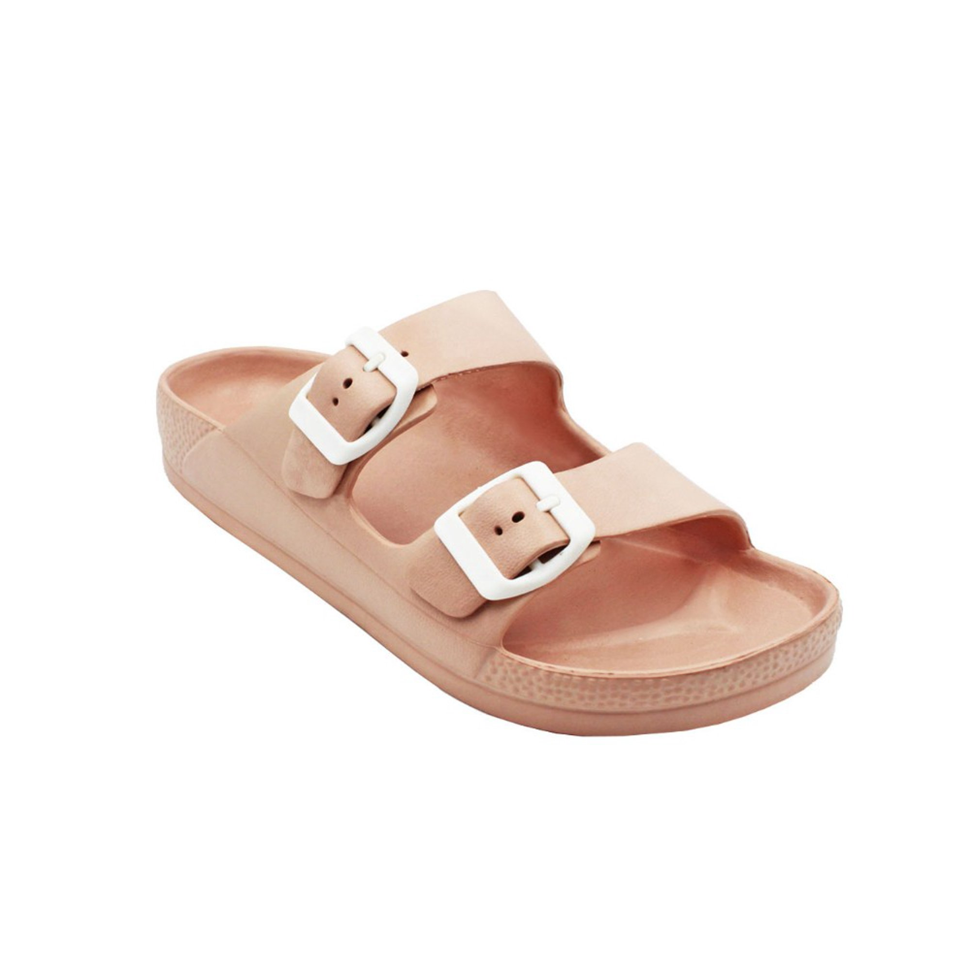 8be566b3e318 Women's Lightweight Comfort Soft Slides EVA Adjustable Double Buckle ...