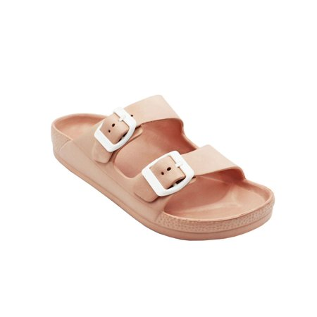 Women's Lightweight Comfort Soft Slides EVA Adjustable Double Buckle Flat - Finn Classic Sandals