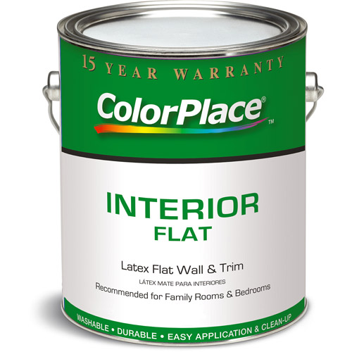 ColorPlace Grab N Go White Flat Interior Paint 1 Gal