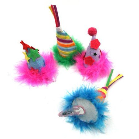 Happy Birthday Hat Barrettes Hair Clip In Assorted Colors 1 Piece