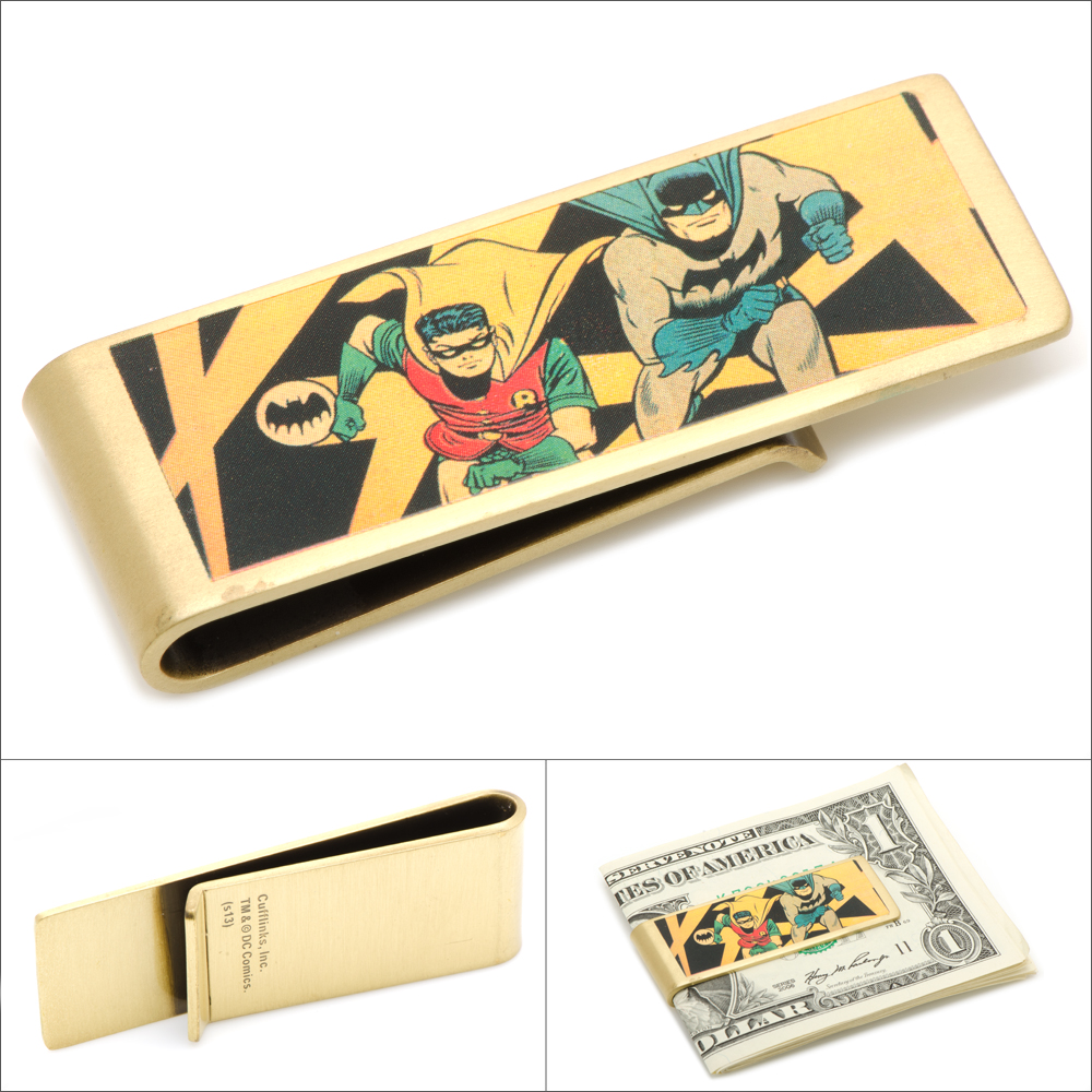 Vintage Style Batman and Robin Comic Money Clip DC Licensed