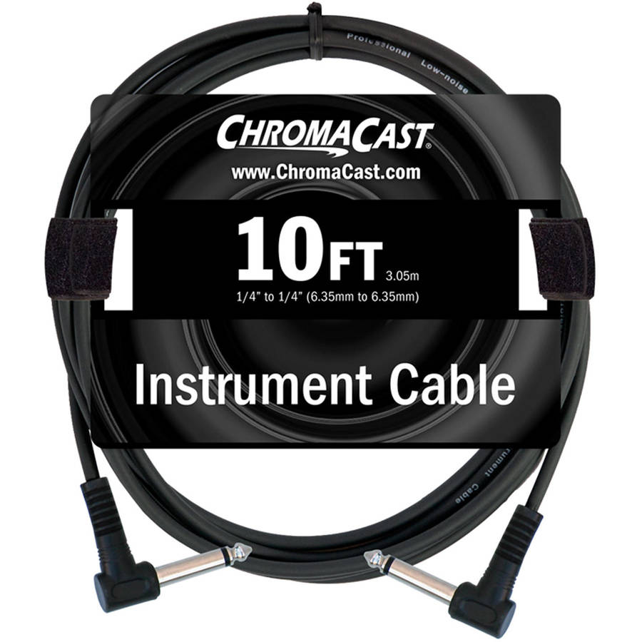 ChromaCast Standard 10' Instrument Cable, Angle-Angle by Generic