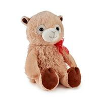 Way To Celebrate Valentine's Day Large Plush Brown Llama