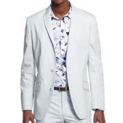 INC NEW Soap Suds Gray Mens 2XL Textured Slim Fit Two Button Blazer