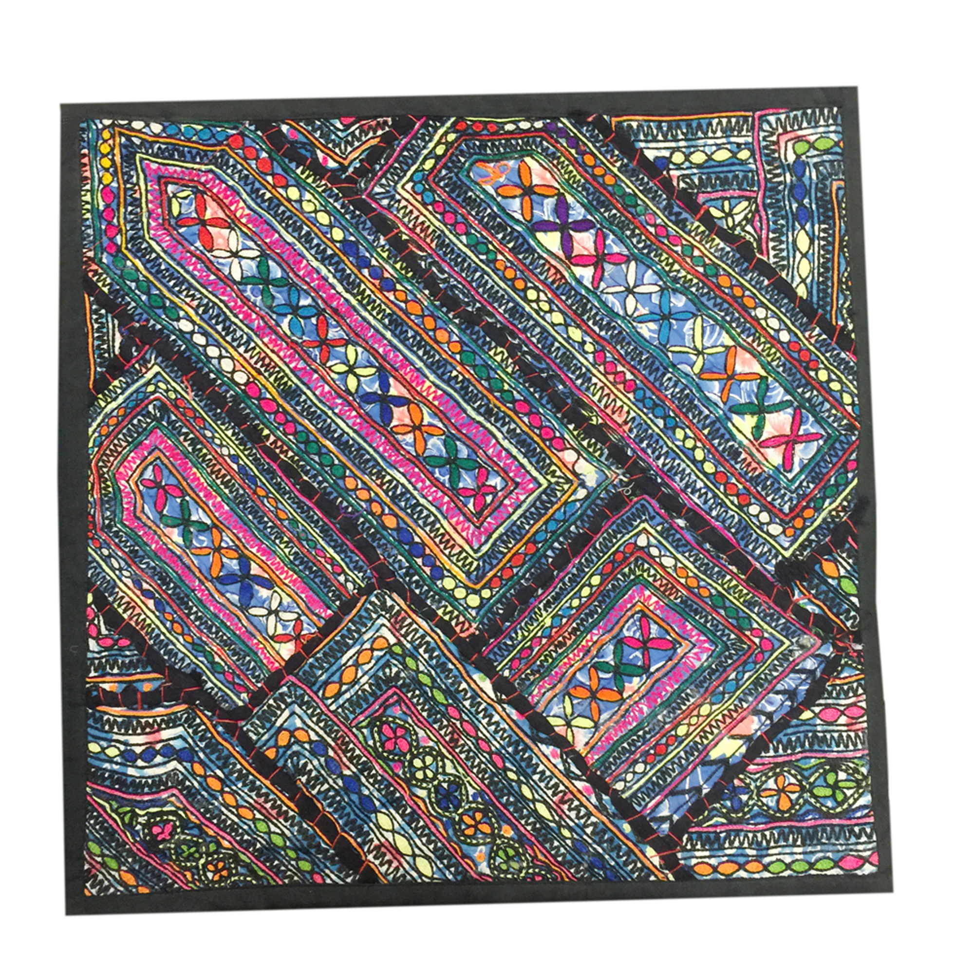 """Mogul Decorative Pillow Cover Colorful Wall Hanging Patchwork Sari Tapestry Home Décor """"18x18"""""""