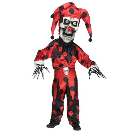 Kids Bobble Head Evil Jester Halloween Costume - Evil Jester Kids Costume