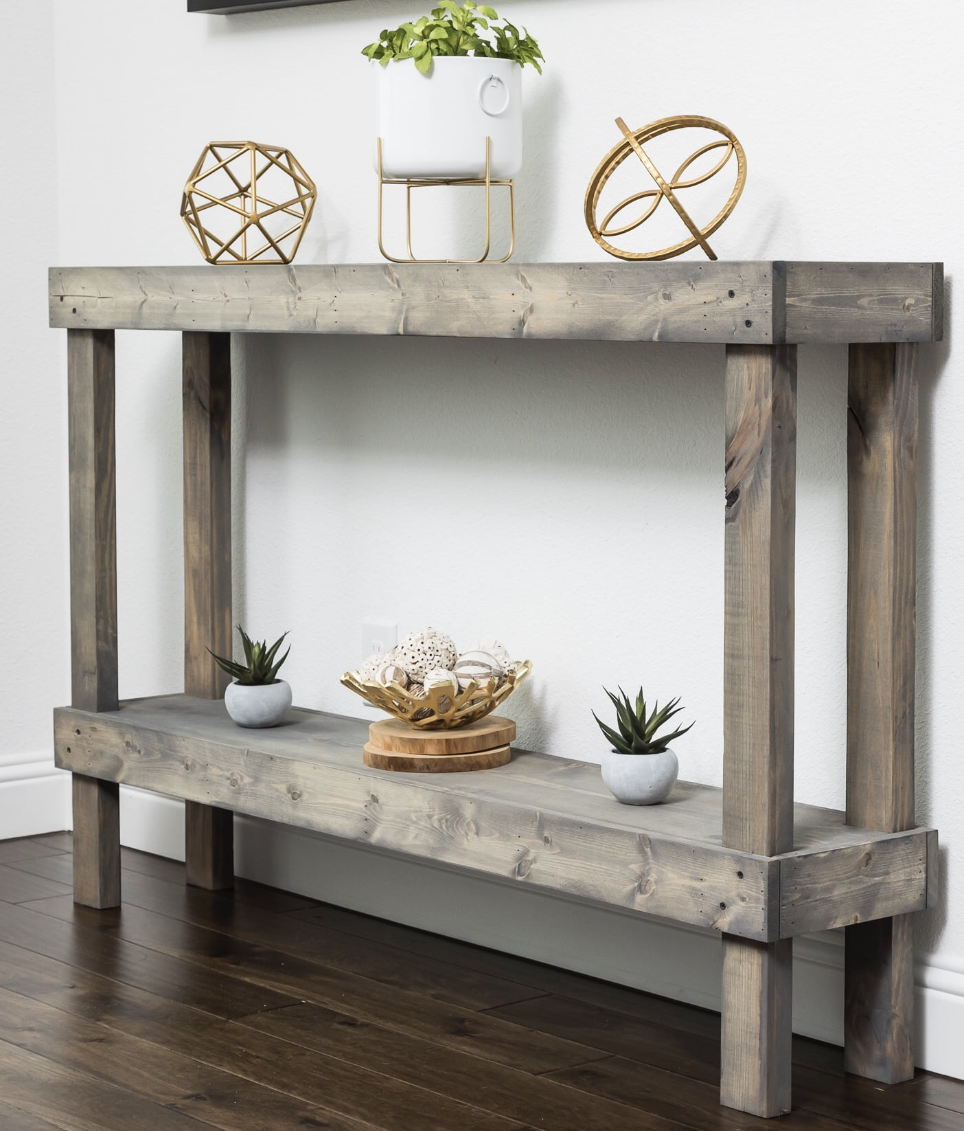 Marvelous Rustic Luxe Large Wooden Sofa Table By Del Hutson Designs Ibusinesslaw Wood Chair Design Ideas Ibusinesslaworg