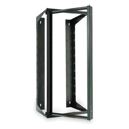 Hubbell HPWWMR24 Wall Mount Network Rack, Swing Frame, 12U, 24  Height x 18  Deep