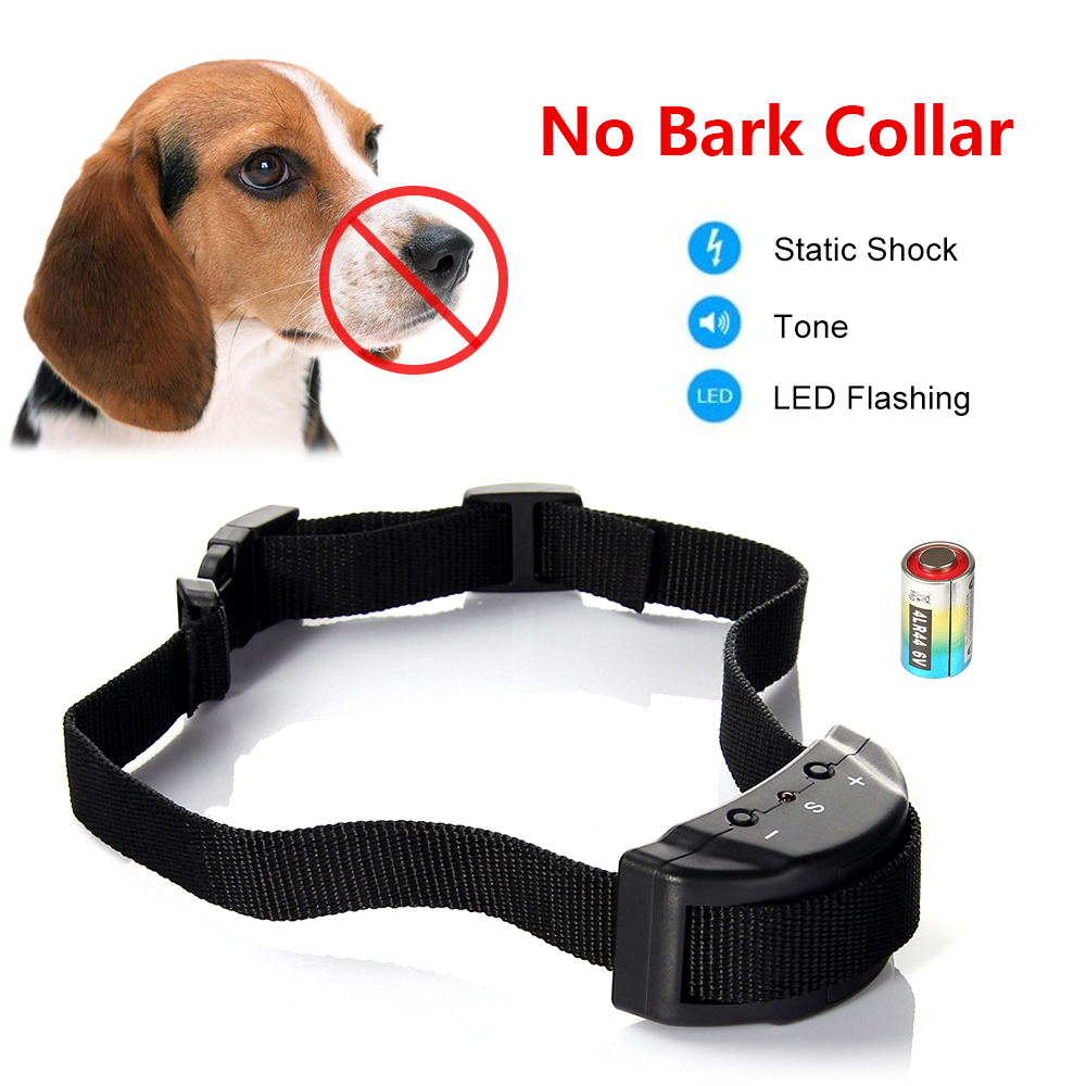 Dog No Bark Collar for Bark Control 6 Levels Adjustable Sensitivity Control No Harm Warning Beep and Shock
