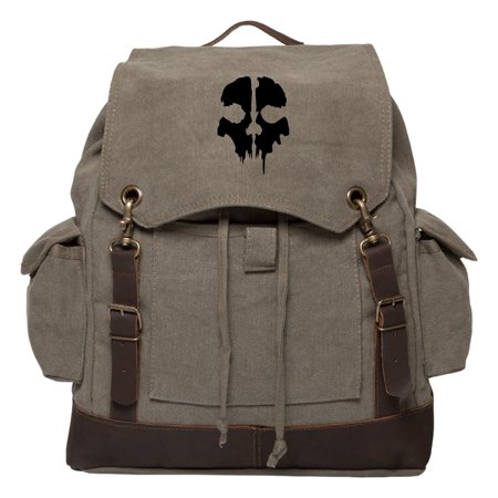Call of Duty Ghost Skull Logo Rucksack Backpack with Leather Straps