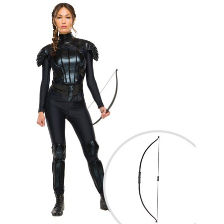 Mockingjay The Hunger Games Katniss Everdeen Adult Costume and The Katniss Everdeen Hunger Games Bow](Hunger Games Katniss Everdeen Halloween Costumes)