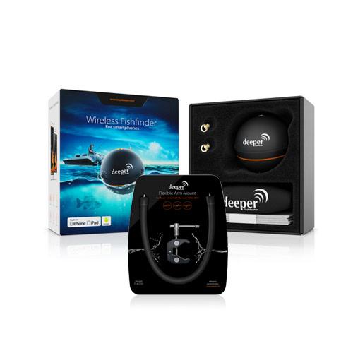 deeper smart sonar portable fishfinder f/smartphone & flexible arm, Fish Finder
