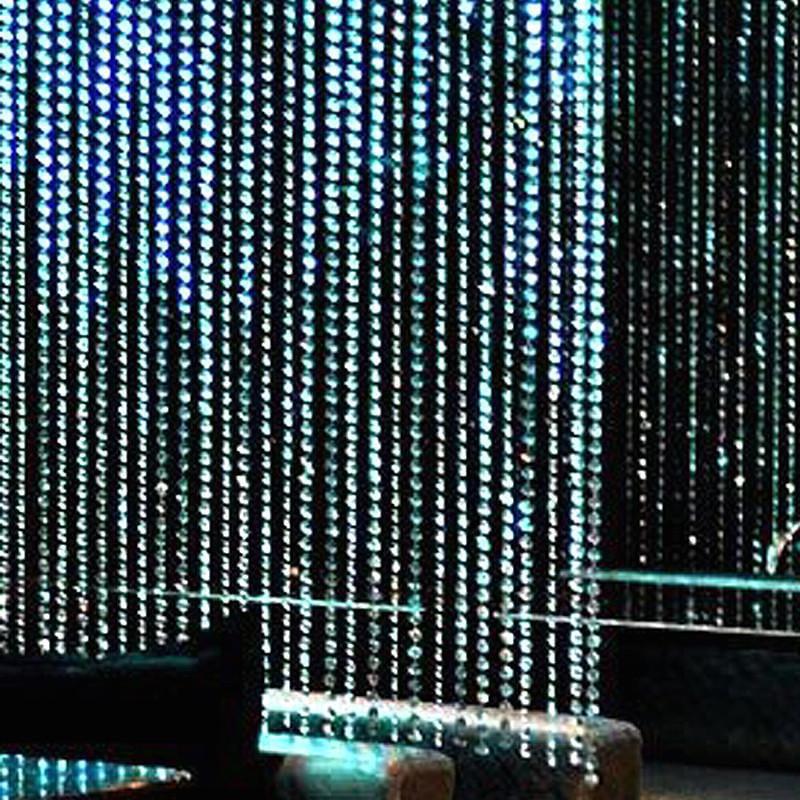 Efavormart PRINCESS-Style Endless Diamond Curtain Backdrops 12ft x 3ft Clear Diamonds w/ Bendable Rod Top