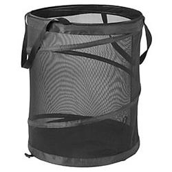 Honey-Can-Do International 4210415 HMP-01127 Mesh Pop Open Clothing Hamper, Black - Large