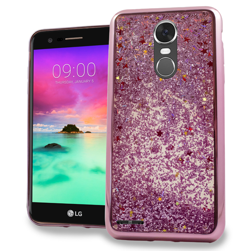 MUNDAZE Rose Gold Motion Glitter Chrome Case For LG Stylo 3 Phone