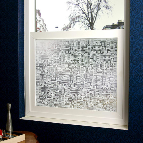 Stick Pretty Little City Privacy Window Film