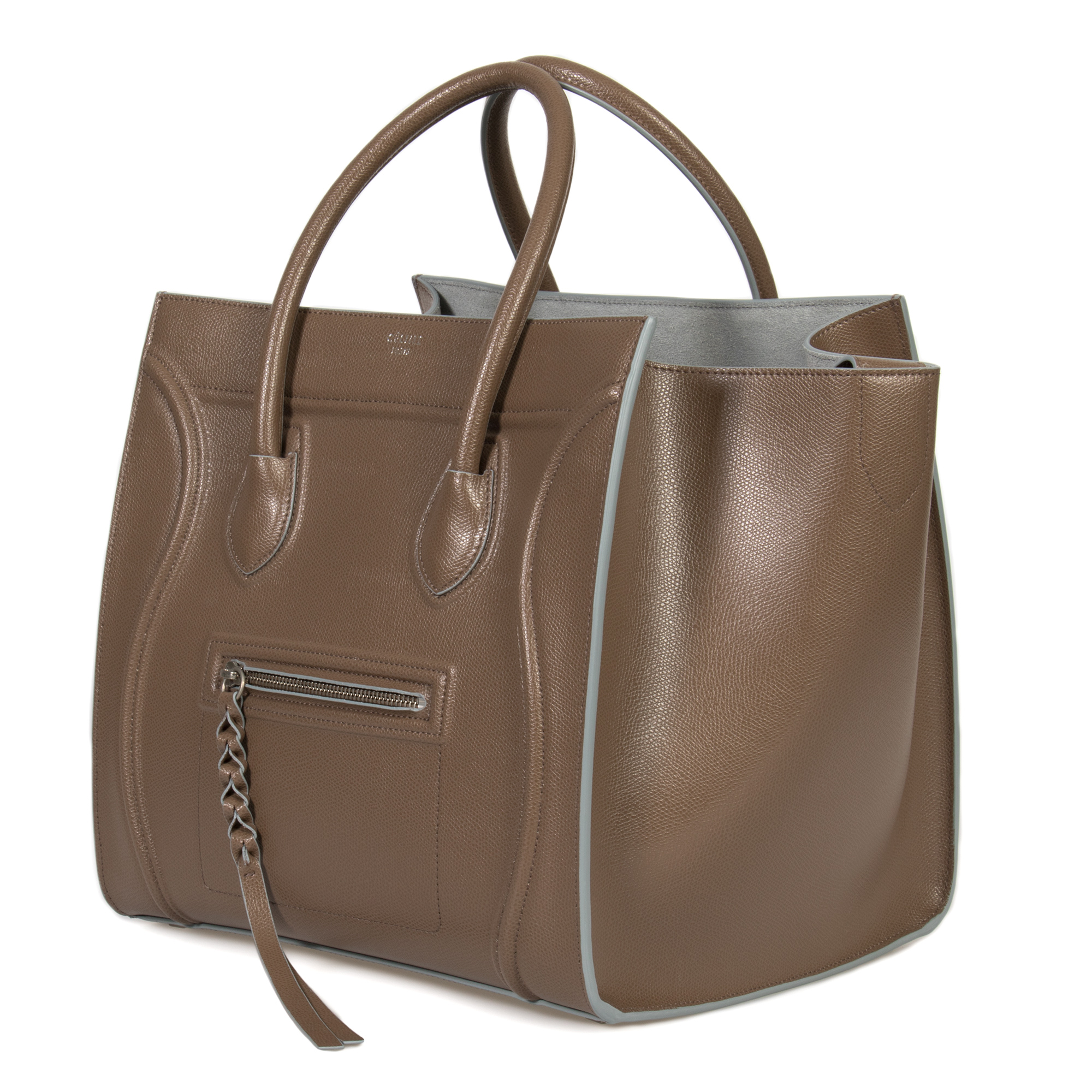 e041e5ac6a902 Celine Medium Luggage Phantom Bag In Taupe Baby Grained Calfskin Leather -  Walmart.com