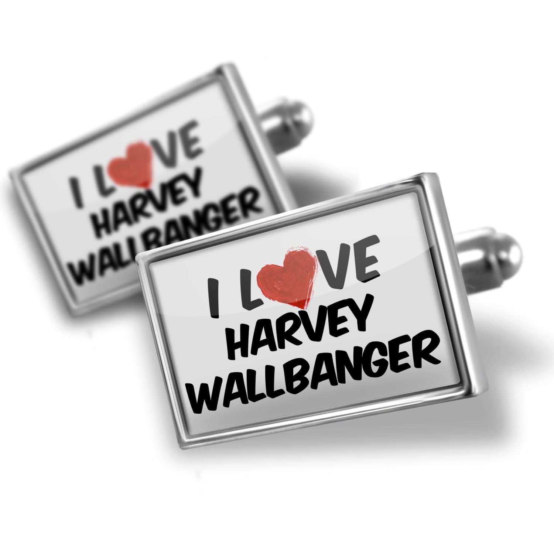 Cufflinks I Love Harvey Wallbanger Cocktail - NEONBLOND
