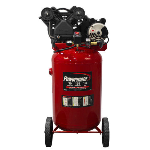 Powermate PLA1683066 1.6 HP 30 Gallon Oil-Lube Vertical Air Compressor by MAT Industries