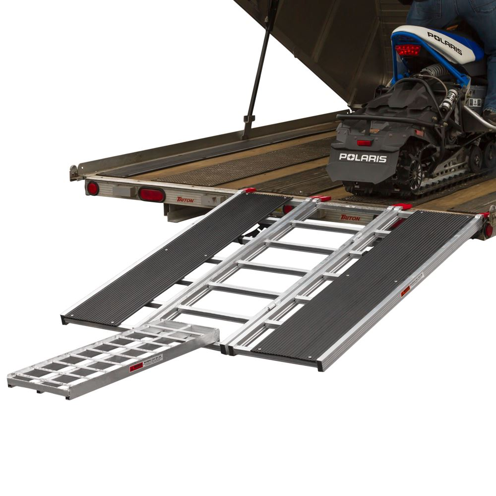 """60"""" x 54"""" Snowmobile Loading Ramp with Center Extension Track"""