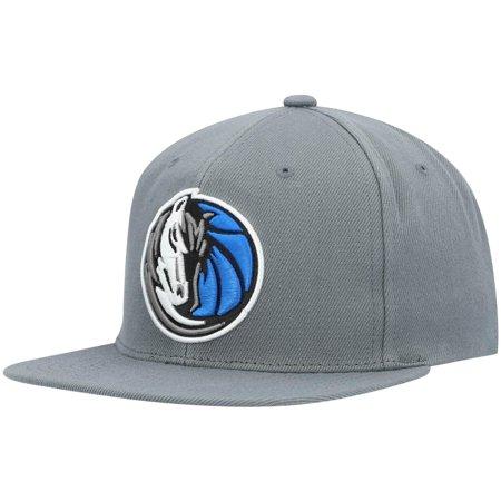 Dallas Mavericks Mitchell & Ness Central Snapback Hat - Charcoal - OSFA