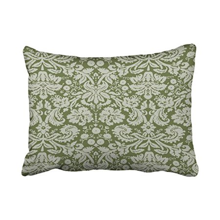 winhome decorative dark green floral pattern throw pillow home decorative pillow case covers. Black Bedroom Furniture Sets. Home Design Ideas