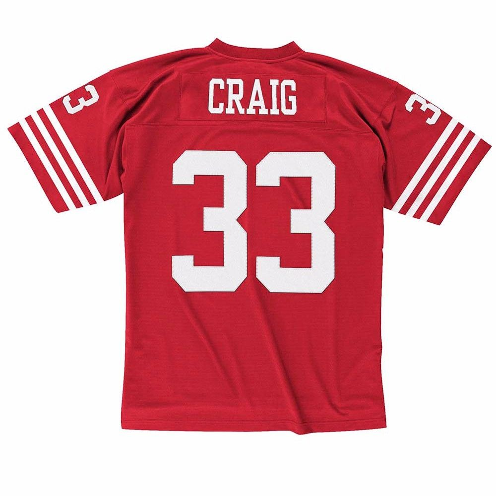 San Francisco 49Ers NFL Mitchell & Ness Red 1990 Throwback Retired Player Legacy Home Jersey Jersey For Men