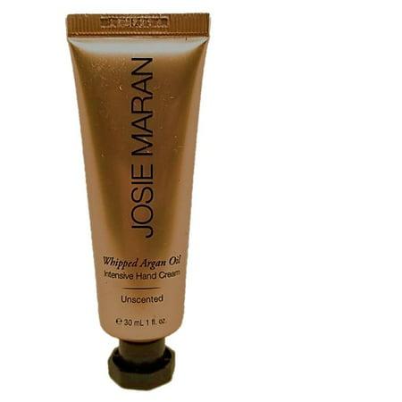 Josie Maran Whipped Argan Oil Intensive Hand Cream 1 oz travel, (Hands Free Whip)