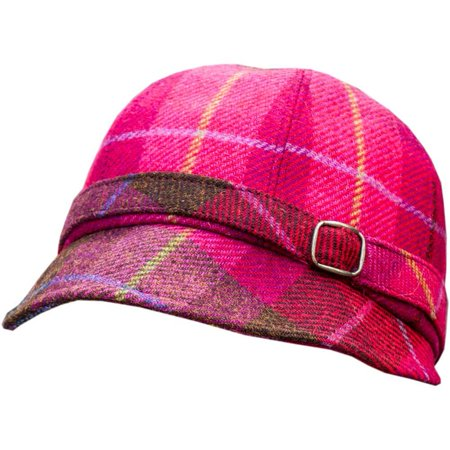 Irish Flapper Style hat. Red Plaid from Irish wool. Made in Ireland (Flappers Hats)