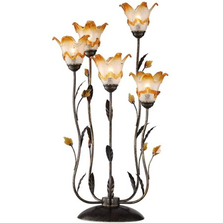 Ok Lighting Windance Floral Table Lamp