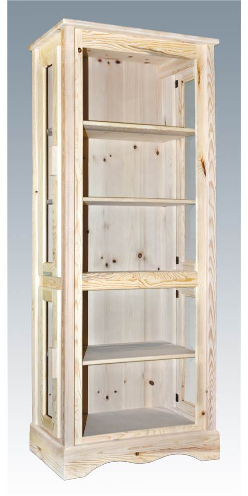 Handcrafted Curio Cabinet by Montana Woodworks