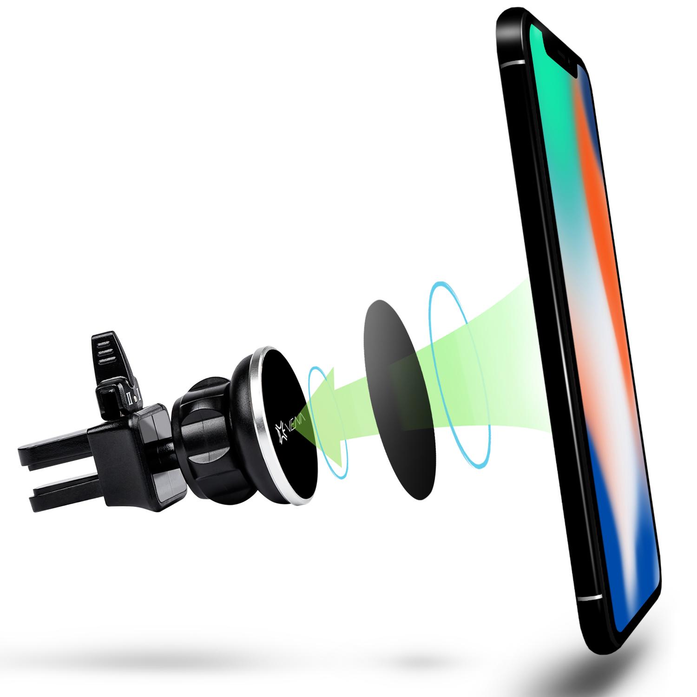 Universal Magnetic Cell Phone Vent Holder Black