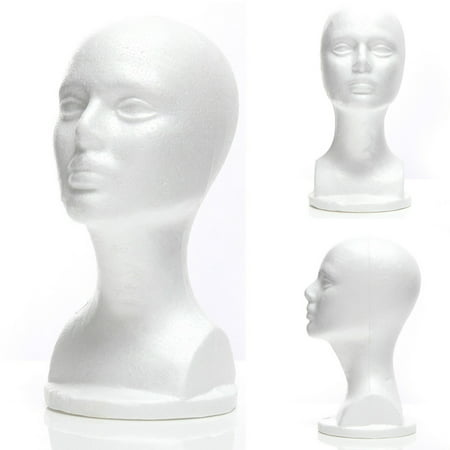 Female Styrofoam Mannequin Manikin Foam Head Model Hat Wig Display Stand](Styrofoam Skull Head)